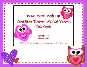 Valentine's Writing Prompt Task Cards