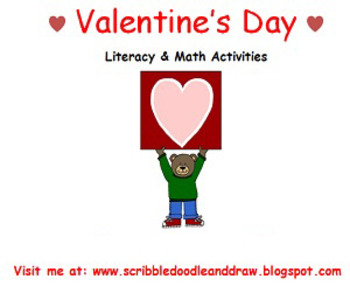 Valentine's day literacy and math activities for prek and