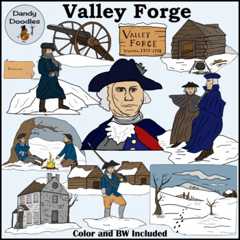 Valley Forge Clip Art by Dandy Doodles