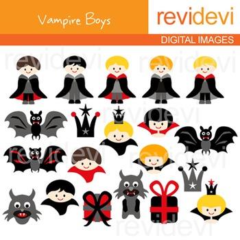 Vampire Boys Clip Art FREE