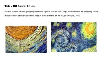 Van Gogh Inspired Self Portrait PowerPoint Project