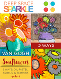 Van Gogh Sunflowers Art Lesson & Video (3 projects)
