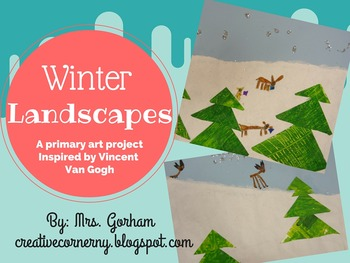 Van Gogh Winter Landscape & Animal Art Project for Primary