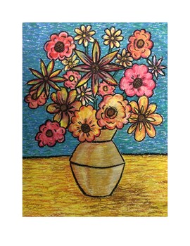Vangogh Style Flowers Lesson