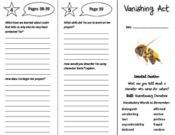 Vanishing Act Trifold - Journeys 6th Grade Unit 6 Week 3 (2011)