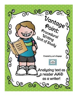 Procedural Text Unit of Study: Genre Vantage Point
