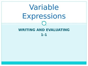 Variable Expressions