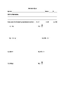 Variable Quiz