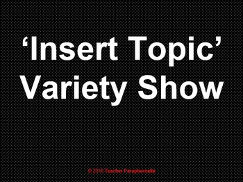 Variety Show Game Template