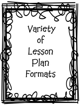 Variety of Daily, Weekly Lesson Plan Templates