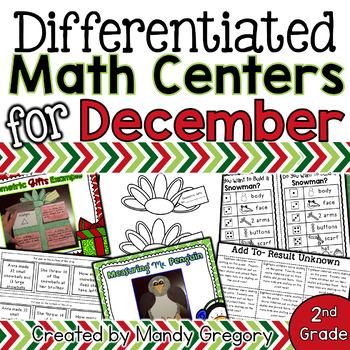 Variety of December Math Centers