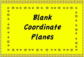 Coordinate Planes -Various