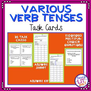 Various Verb Tenses Task Cards