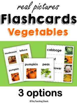 Vegetable Flashcards with Real Photos
