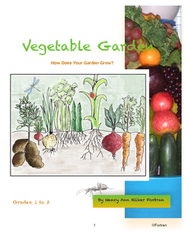 Vegetable Garden - Art Lesson for 1st, 2nd, and 3rd Grades