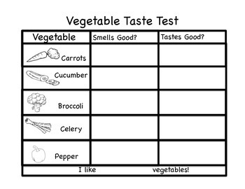 Vegetable Taste Test