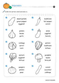 Vegetable Worksheets / Activities *Printables*