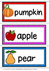 Vegetable and fruit cards.(USA VERSION)