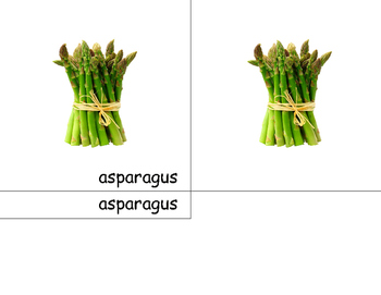 Vegetables- 3 part cards