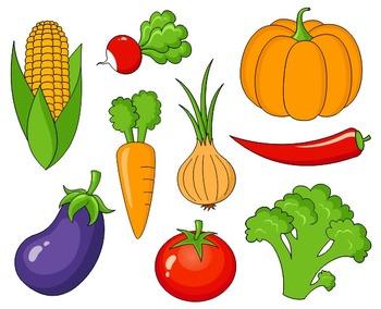 Vegetables Clip Art Set
