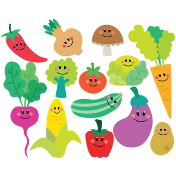 Vegetables Clipart & Vector Set
