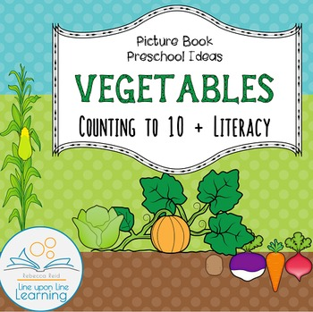 Vegetables Counting and Early Literacy (Tops and Bottoms i