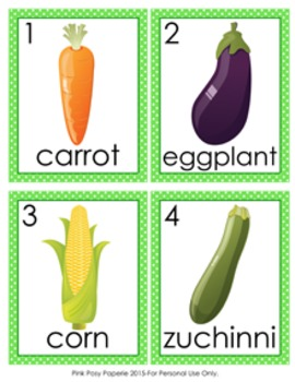 Vegetables Write the Room Activity
