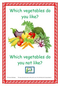 ESL Vegetables worksheets I like/ I don't like