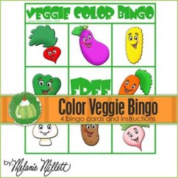 Veggie Color Bingo Game