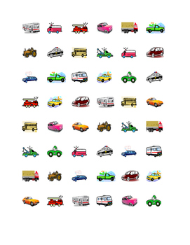 Vehicles Connect the dots Squares game