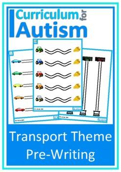 Autism, Fine Motor Pre-Writing Skills, Vehicles, Write & W