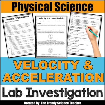 Velocity and Acceleration Lab Activity for Middle and High