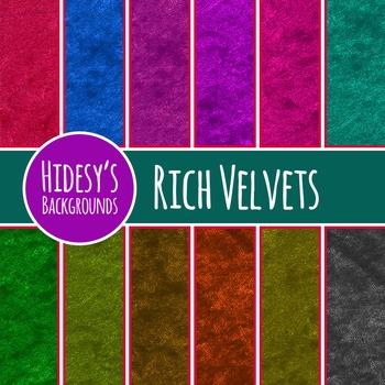 Velvet Fabric Backgrounds / Digital Papers / Patterns Clip