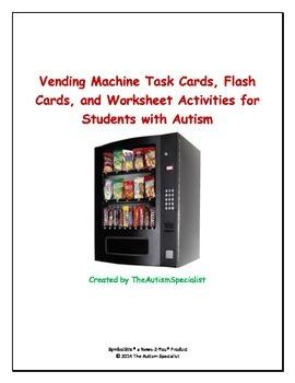 Vending Machine Task Cards, Worksheets, Task Analysis Data