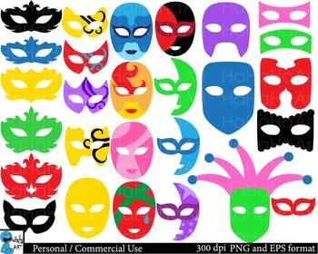 Venice Masks Props Digital Clip Art Commercial Use 151 ima