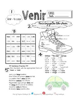 Venir Conjugation Worksheet
