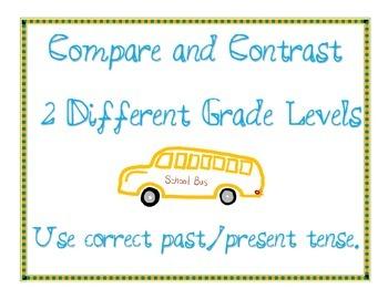 Venn Diagram: Compare and Contrast between Grade Levels