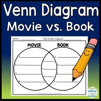 Venn Diagram - Movie versus Book - 3 Venn Diagrams Included!