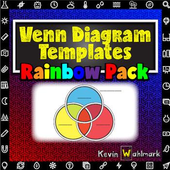 Venn Diagram Templates Rainbow Pack