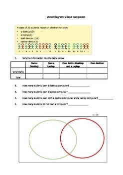 Venn Diagrams - Ratio worksheet - supports PowerPoint Part 2