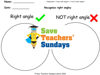 Venn diagram worksheets (3 levels of difficulty)
