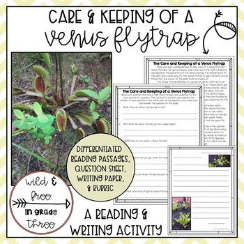 Venus Fly Trap Performance Task: Right There Questions and