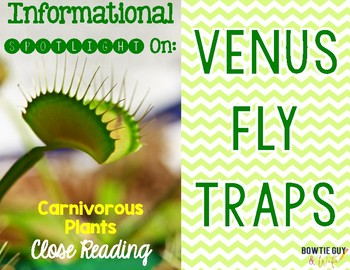 Venus Fly Traps {Differentiated Reading Passages & Questions}
