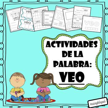 Veo (Spanish sight word work)