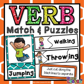 Verb Activities: Verb Match and Puzzles