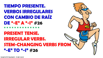 "Verb Conjugation –Present Tense/12 Stem-Changing Verbs -""E"