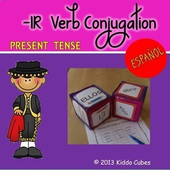 "Verb Conjugation -IR Verbs ""Learning Cube Inserts"""
