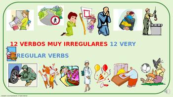 "Verb Conjugation –Past Tense /12 Irregular Verbs. ""Z-C"" Ch"