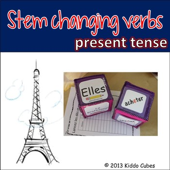 """Verb Conjugation -Stem-changing Verbs (French) """"Learning c"""