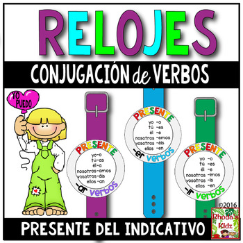 Verb Conjugation Watches (Present Tense)